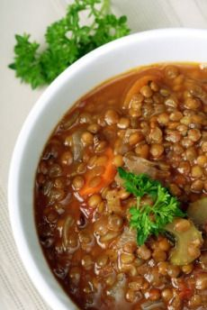 Cheap Healthy Recipes: Lentil Stew with Barley and Mushrooms
