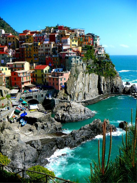 Manarola is a small town in northern Italy. It is the second smallest of the fam
