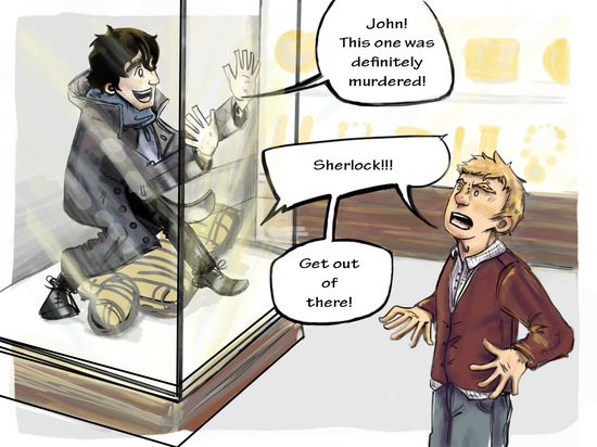 The story of why John decided never to go to museums with Sherlock ever again…