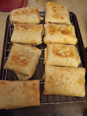 Baked Chicken Chimichangas   8oz pkg. cream cheese  8oz. Pepperjack cheese, shre