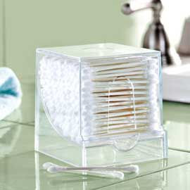 toothpick holder for q-tips
