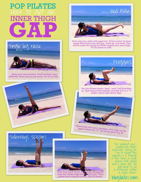 how to get an inner thigh gap… Because we're always thinking about bikini