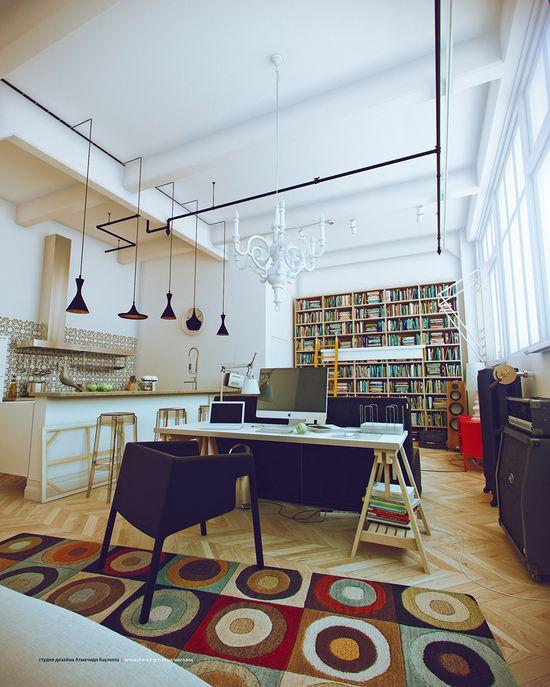 White Studio Apartments Decor