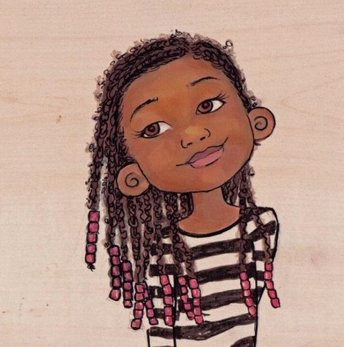 """Pinner wrote: """"I love that her braids are a lil fuzzy :)"""""""