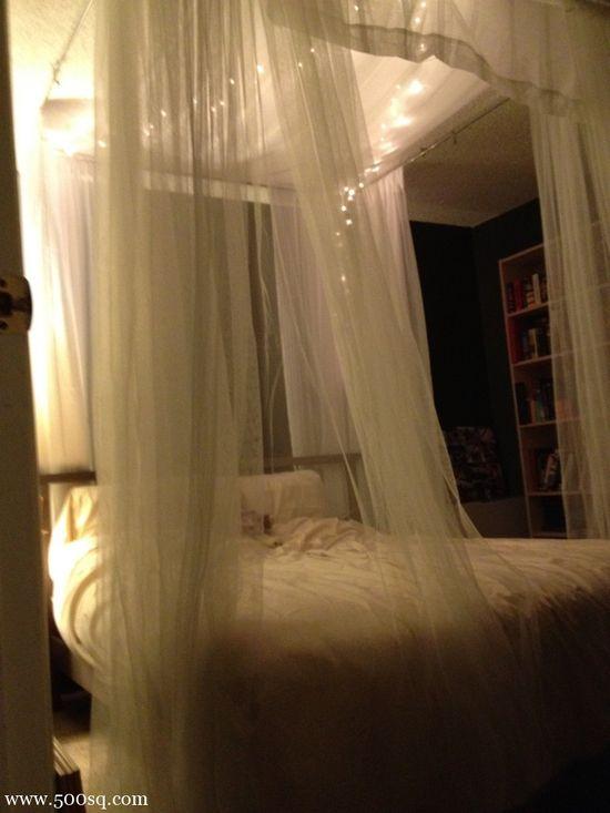 DIY canopy bed – night