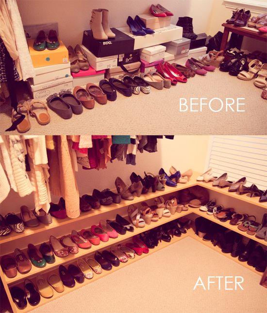 DIY – 50 Pairs of shoes, Shoe rack