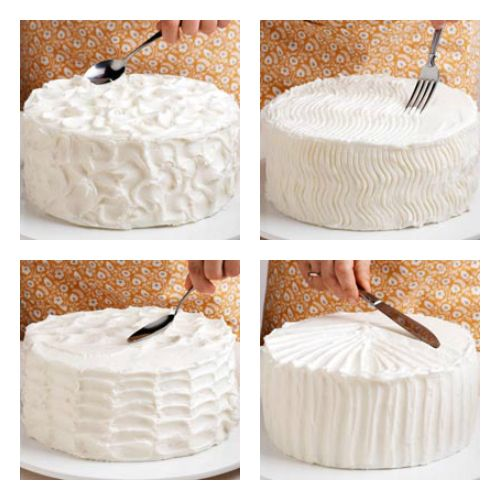 Simple ways to decorate a cake – peaks, zigzags, waves, and stripes!