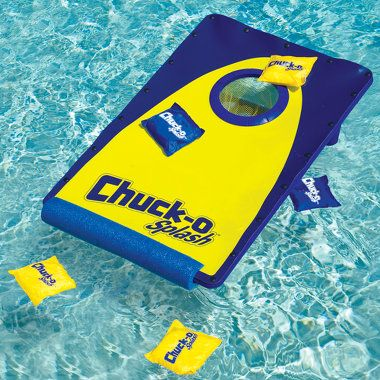 Corn Hole game for the pool !!!  If we tied it to the boat, we could play In the