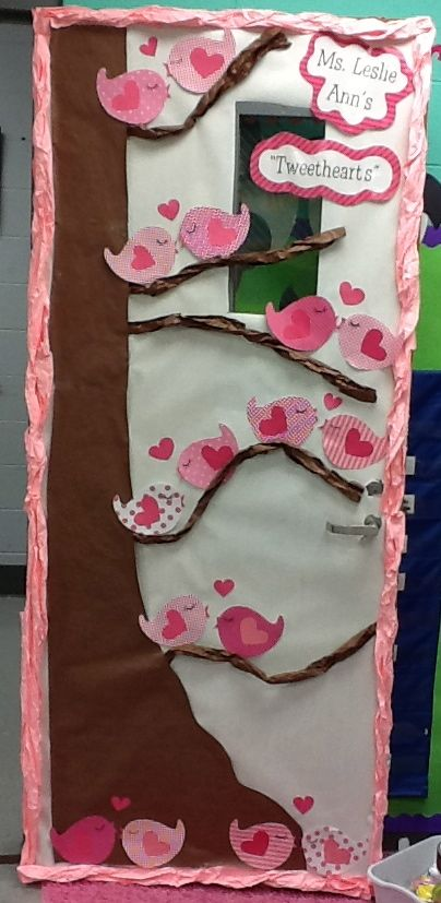 """Tweethearts"" Door Decoration – Thank You Life in First Grade!"