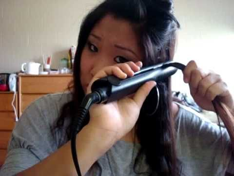 How to Crimp Your Hair w. a Flat Iron. Love her! I am going to try this out!