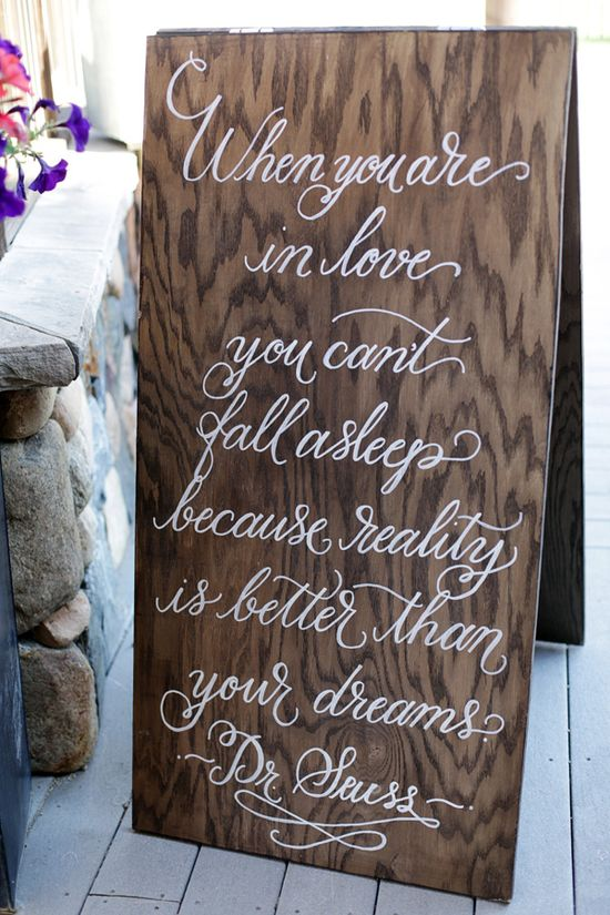 dr. suess saying for wedding decor