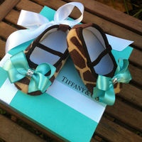 Tiffany & Co. Inspired Giraffe Infant Flats