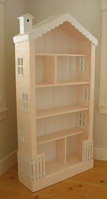 Turn a bookcase into a doll house
