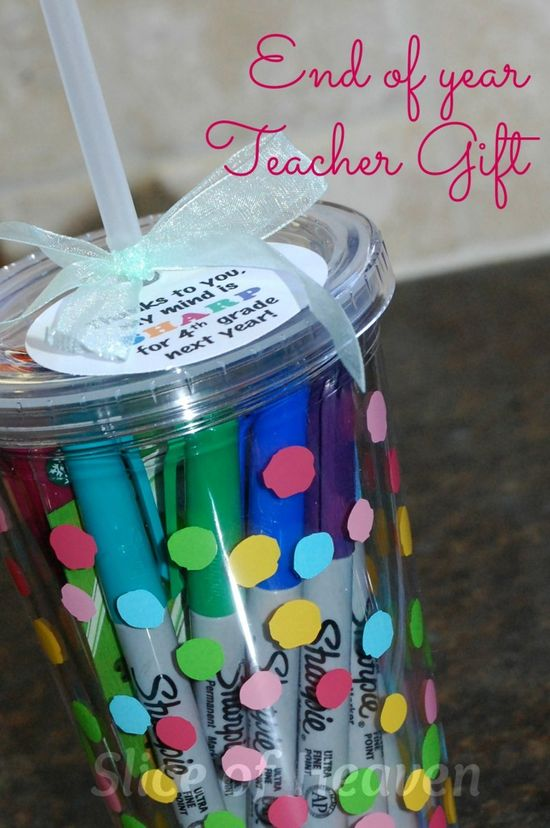 """End of Year Teacher Gift – """"Thanks to you, my mind is SHARP for 4th grade ne"""
