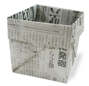how to fold a box from newspaper. Then you can plant your seeds in them then pla