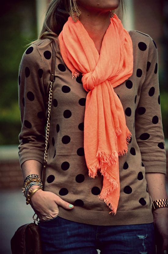 polka dot sweater & accessories