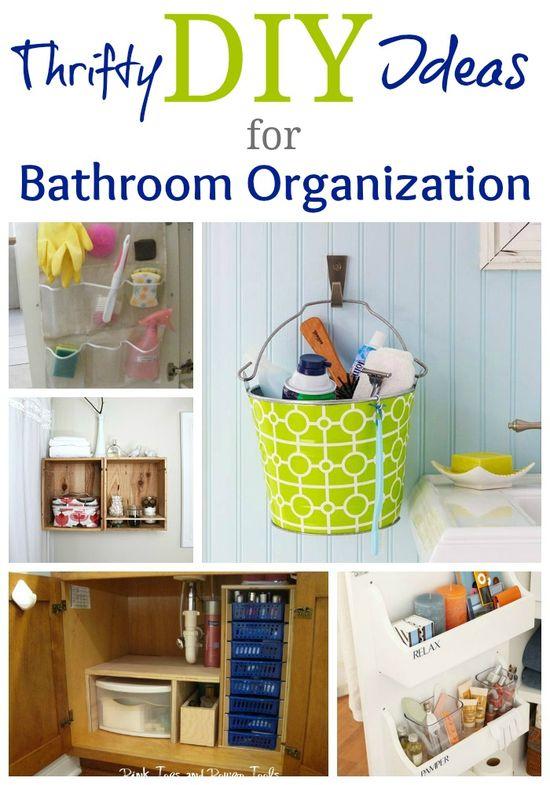 Thrifty Bathroom Organization Ideas #bathroom #organization