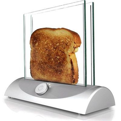 Transparent toaster – That would be so fun to watch.
