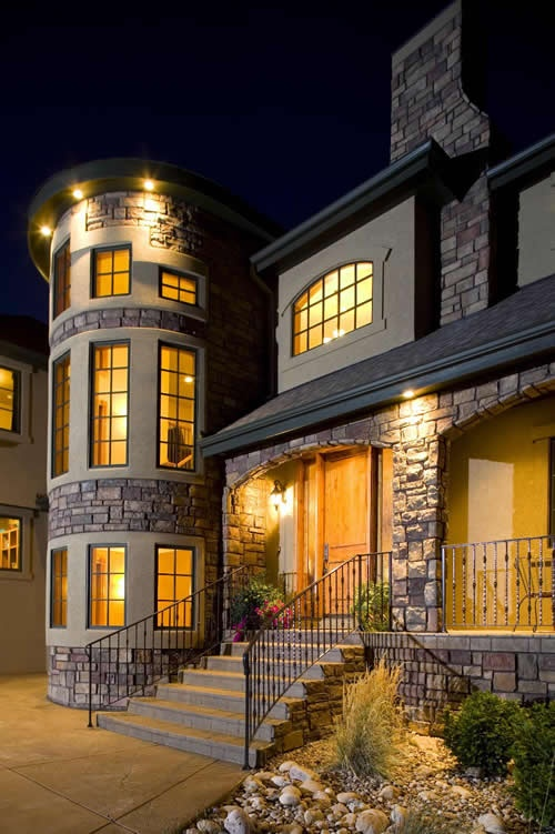 Stone Luxury House Front