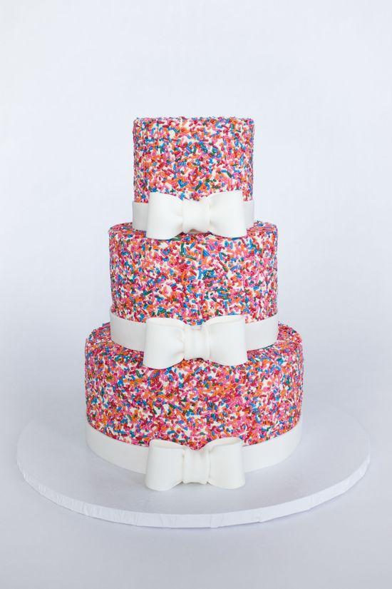 Girly Sprinkle Cake