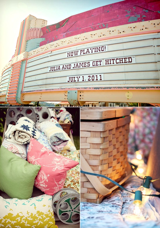 Movie Night Engagement Party Inspiration