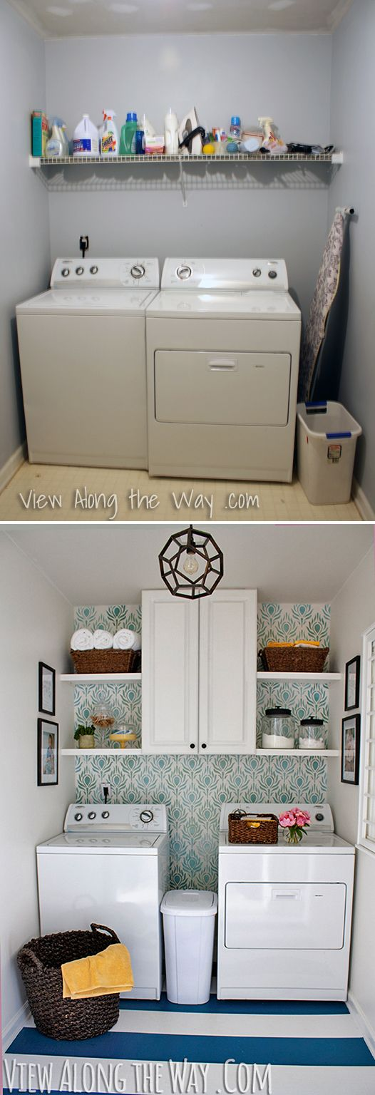 Laundry room before-and-after: This whole room was DIY-ed top to bottom for only