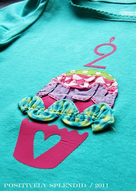 cupcake shirt for the birthday girl – cute idea.  maybe have pieces for each gir