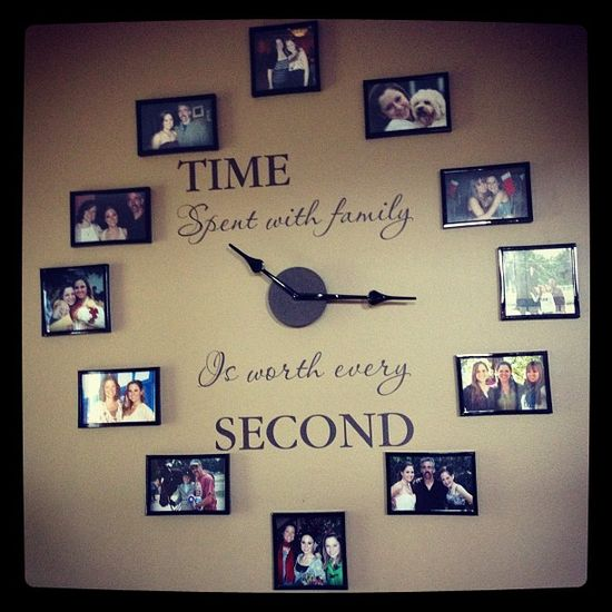 """Time spent with family is worth every second"" wall clock"