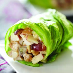 With 35 repins favorite new repin on my boards….  Healthy wrap: 1/2 cup choppe