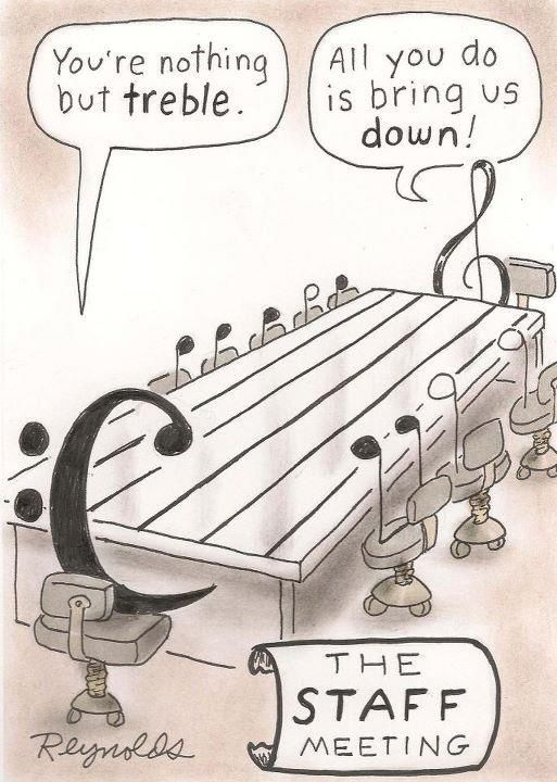 Nothing but treble…