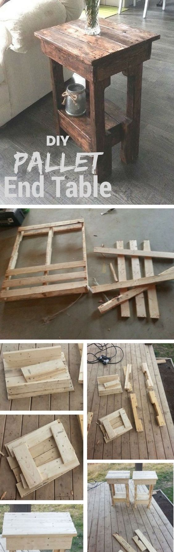 Easy DIY End Table from Wooden Shipping Pallets Tutorial   Instructables