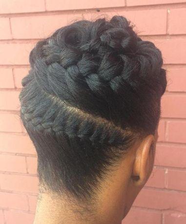 Black Goddess Braids Updo: