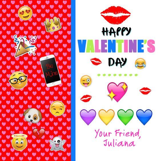 Emoji Valentines Day Cards Valentine Day Cards