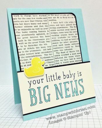 Big News, Something for Baby, Stampin' Up!, Brian King, FMS142: