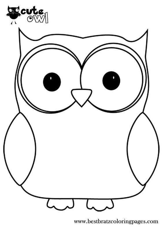owl coloring pages cute owl and ray bans on pinterest