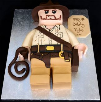 gateau d'anniversaire lego Indiana Jones