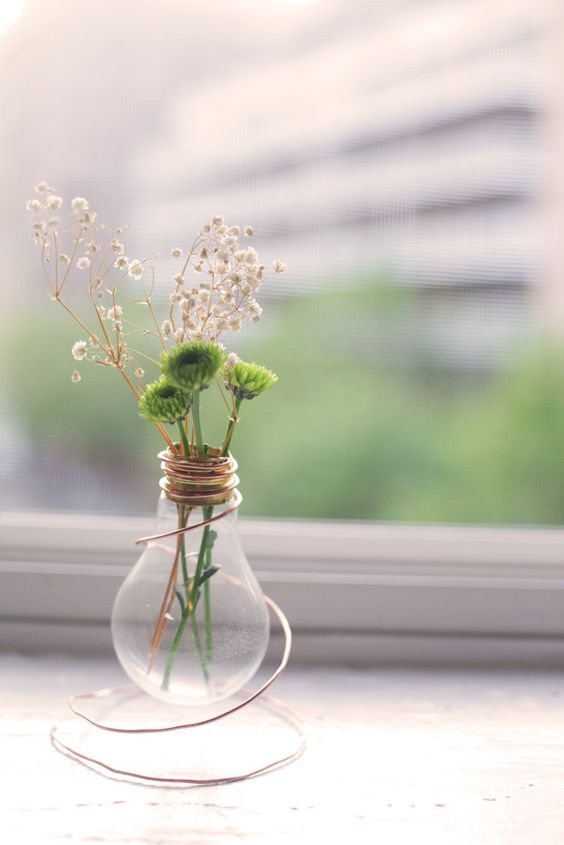 DIY Lightbulb vase by North and Market: