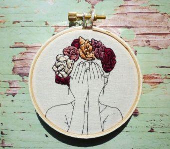 Broderie Couronne florale Thea 3 pouces Art par CheeseBeforeBedtime: