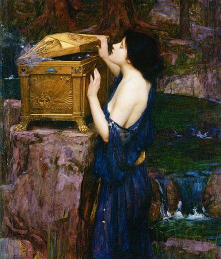 Pandora (detail) by John William Waterhouse:
