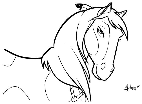 wild horse coloring pages  spirit stallion of the