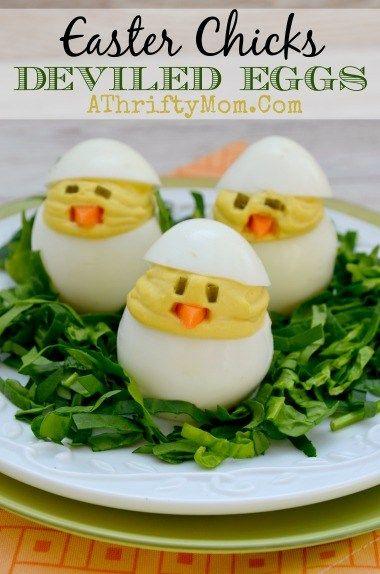Easter Chicks Deviled Eggs Recipe: