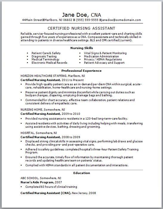 resume sample resume and nursing on pinterest