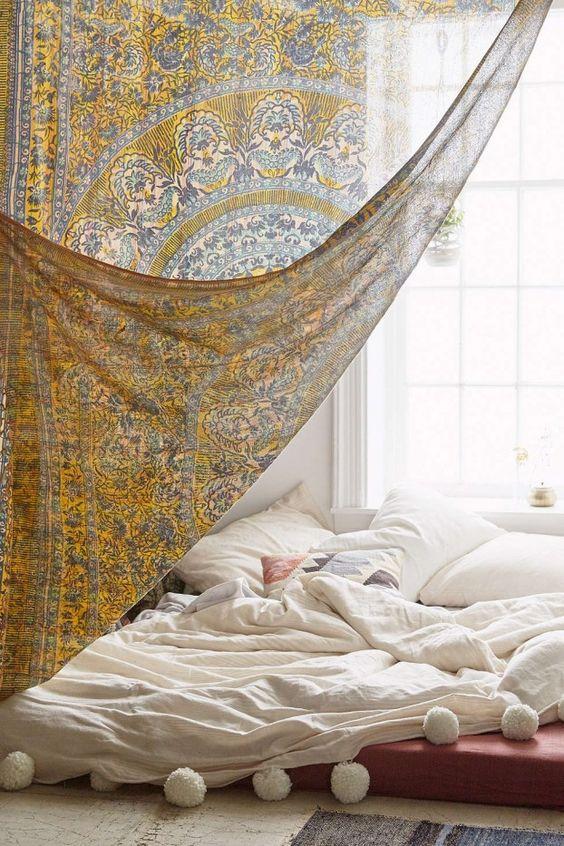 Functional Decor Ideas Curtain Room Divider