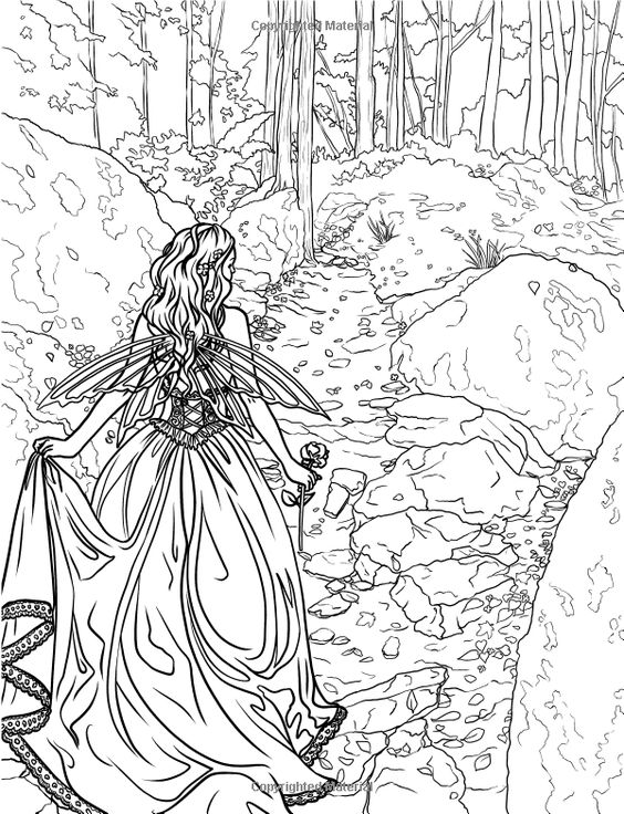 enchanted  magical forests coloring collection (fantasy