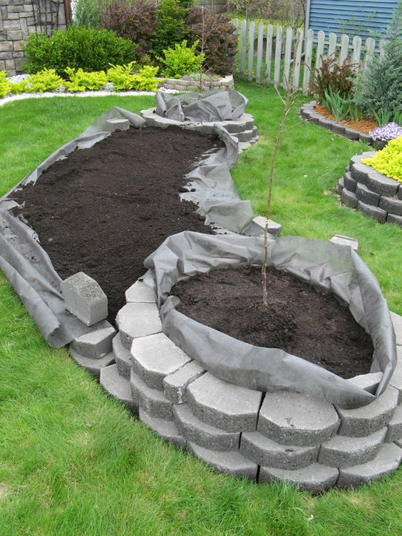 for raised beds first lay down some weed block fabric