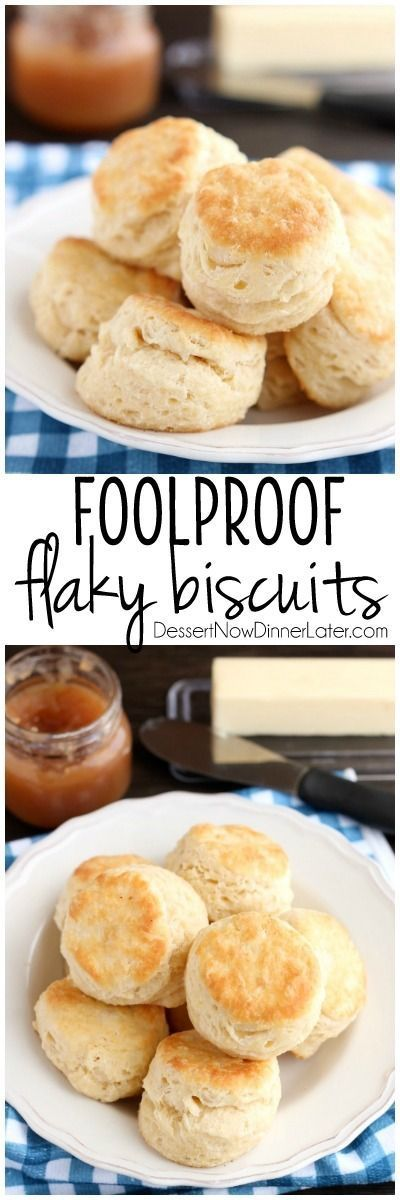 """The secret to Foolproof Flaky Biscuits is revealed! Find out how to get flaky, layered, buttery, tender biscuits you will swoon over! (Tips, Tricks, & Photo Tutorial Included!)"" via Dessert Now Dinner Later - The Best Homemade Biscuits Recipes - Quick, Easy and Delicious Bread Sides for Breakfast, Brunch, Lunch and Family Dinner!"