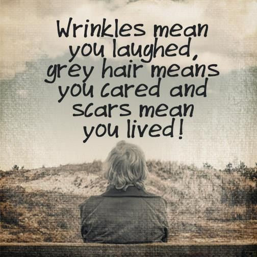Wrinkles ✔️ Gray hair ✔️ Scars ✔️ I have them all and lived to tell about it.: