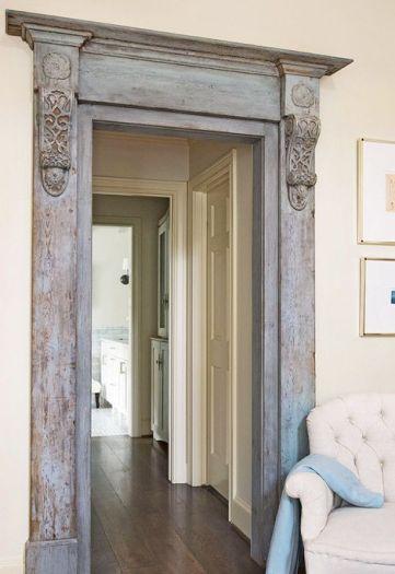 distressed vintage door frame