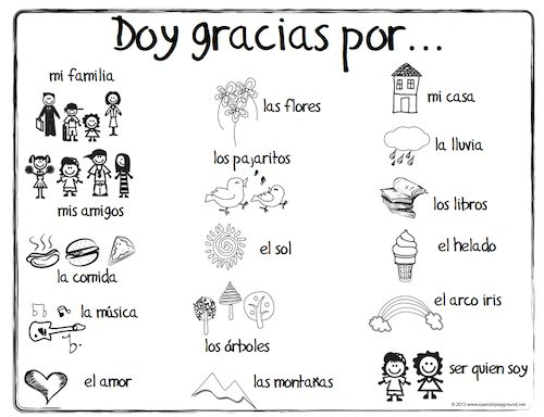 vocabulary spanish and thanksgiving on pinterest