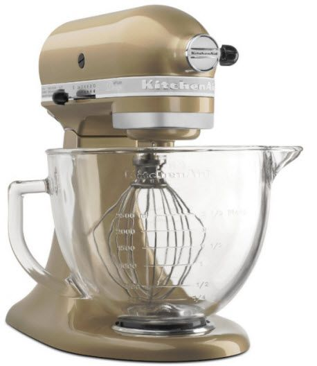 KitchenAid unveiled a champagne gold colored stand mixer at the Housewares Show.:
